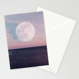 Sunset Sea Moon Stationery Cards