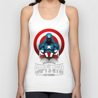 gym Tank Tops featuring Capt's Gym by Corey Courts