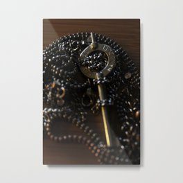 The Key to My Heart is a Handcuff Key Metal Print