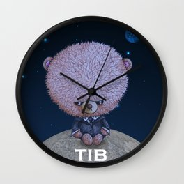Ted in Black Wall Clock