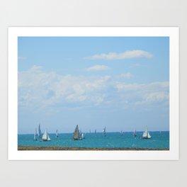 Sailing Hawke's Bay  at Napier (New Zealand Collection) Art Print