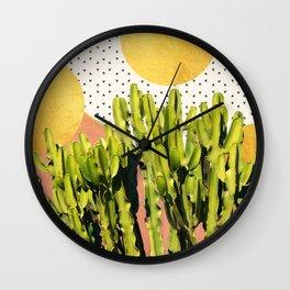Cactus Dream #society6 #decor #buyart Wall Clock