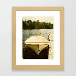 Dock and Dory, Lily Bay State Park, Maine Framed Art Print