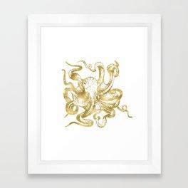 Gold Octopus Framed Art Print