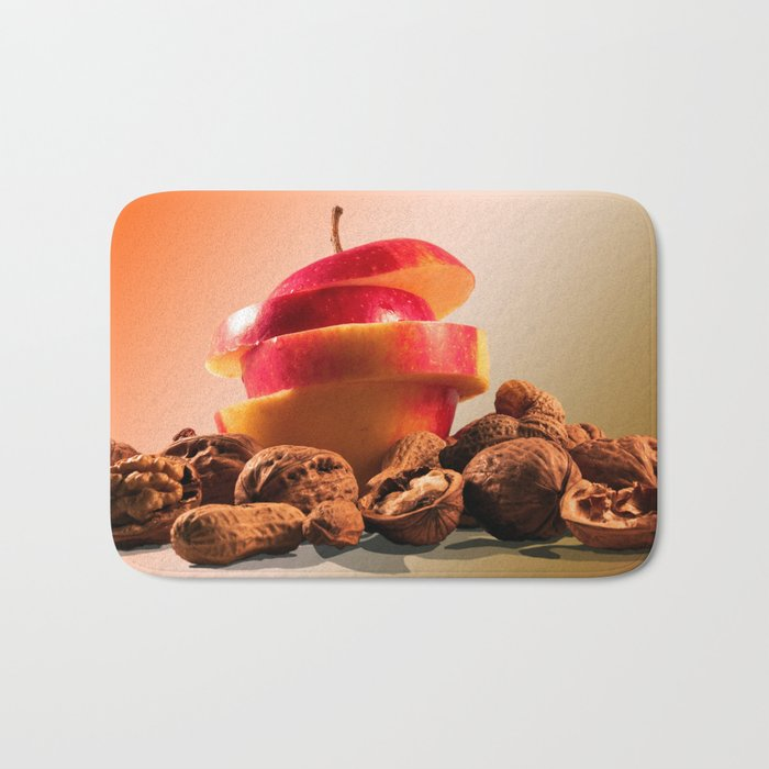 Apple and nuts Bath Mat