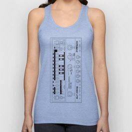 Roland TB-303 Bass Line Wireframe Unisex Tank Top
