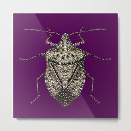 Stink Bug Bedazzled Metal Print
