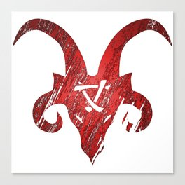 Red Horned Skaven Canvas Print