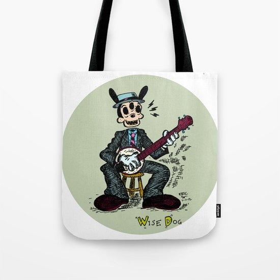 Wise Dog and his Banjo Tote Bag