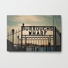 Burroughs Wharf Boston Metal Print
