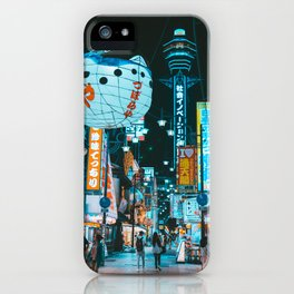 The new world in Osaka iPhone Case
