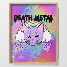 Death Metal Kitty Serving Tray