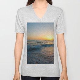 Ocean Sunset 4 Unisex V-Neck