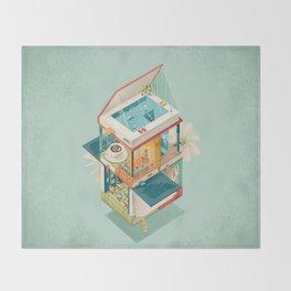 Creative house Throw Blanket