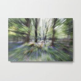 Abstract Bluebell Woods Metal Print