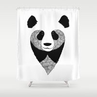 panda Shower Curtains featuring Panda by Art & Be