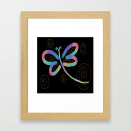 Funky Abstract Dragonfy Digital Painting Framed Art Print