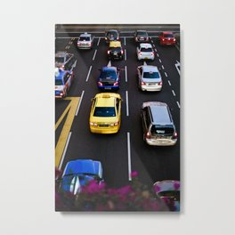 cars and traffic Metal Print