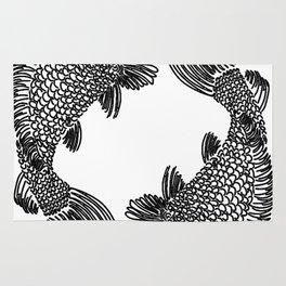 Pisces Koi Fish Print Rug