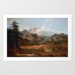 View of Pike's Peak Art Print