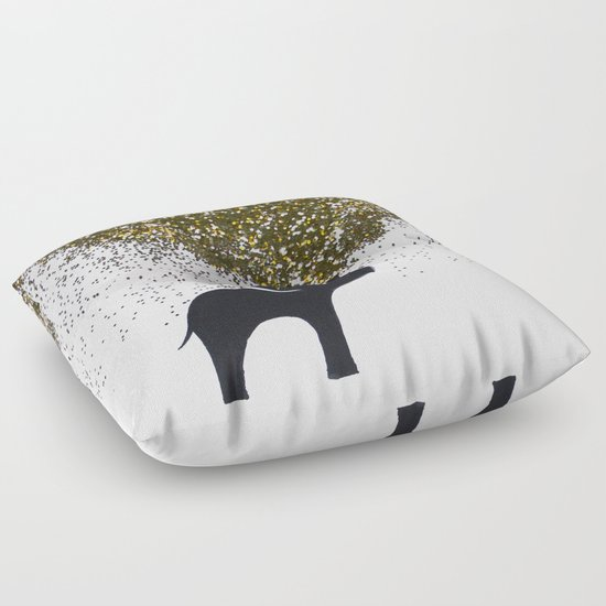 elephant w/ glitter Floor Pillow by Stella Joy Society6