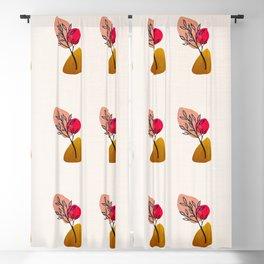 Hand Painted Pastel Bonsai Leaf Blackout Curtain