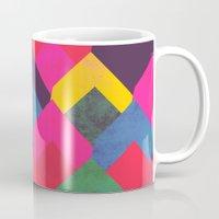 georgiana paraschiv Mugs featuring colour + pattern 11 by Georgiana Paraschiv