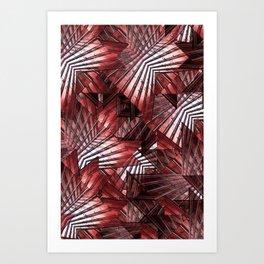 Red Wall (ID400) Art Print