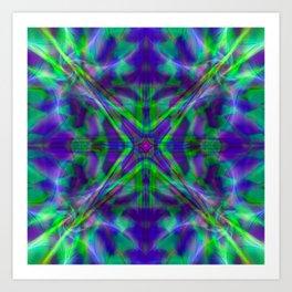 Quadro #4 Vibrant Psychedelic Optical Illusion Art Print