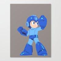 megaman Canvas Prints featuring Megaman by Megan Yiu