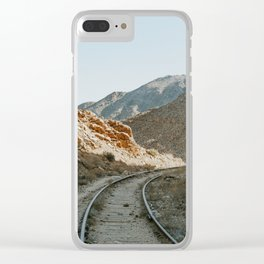 Mountain trail Clear iPhone Case