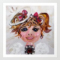 abigail larson Art Prints featuring Abigail by EloiseArt