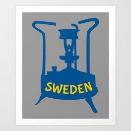 Sweden   Brass Pressure Stove Art Print