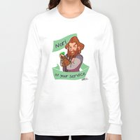 nori Long Sleeve T-shirts featuring Nori at Your Service  by Hattie Hedgehog