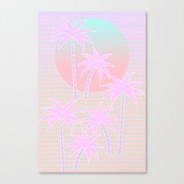 Hello Miami Sunrise Canvas Print