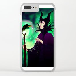 Maleficent Clear iPhone Case