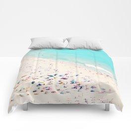 beach love III square Comforters