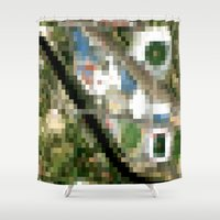 melbourne Shower Curtains featuring Melbourne by Mark John Grant