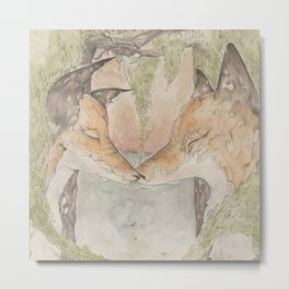 Fox [[ 3 ]] Metal Print