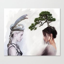 """""""east/west"""" Canvas Print"""