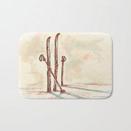 Skiing Bath Mat