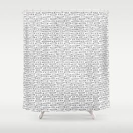 Hand Drawn Dots and Elipses Shower Curtain