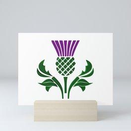 Scottish emblem thistle Mini Art Print