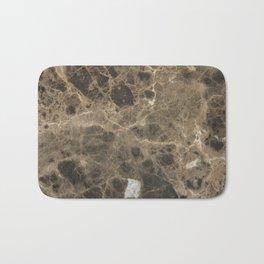 Brown Vein Marble Print Home Decor Bath Mat