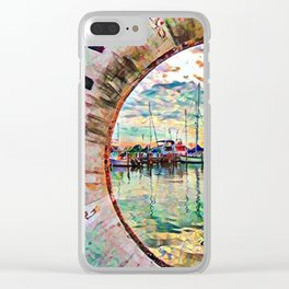 Eye Spy a boat or two Clear iPhone Case