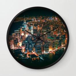 City of Lights New York City (Color) Wall Clock
