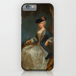 "Antoine Watteau ""Retour de Chasse: Portrait of Marie-Louise Sirois"" iPhone Case"