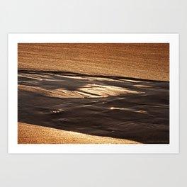 on golden sands Art Print