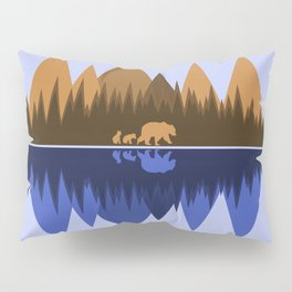 Bear & Cubs Blue Pillow Sham