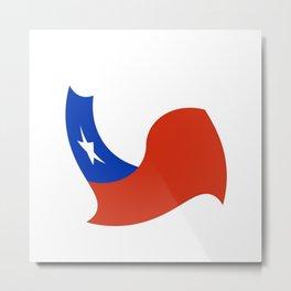 Flag of Chile 3 -Spanish,Chile,chilean,chileno,chilena,Santiago,Valparaiso,Andes,Neruda. Metal Print